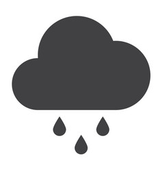 rain icon with cloud vector image
