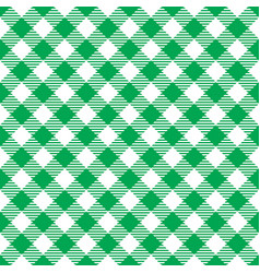 Seamless green white traditional gingham pattern vector