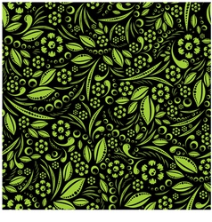 Seamless wallpaper Green vegetation repeating vector image vector image