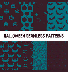 set of seamless patterns with traditional vector image vector image
