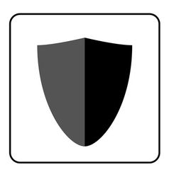 Shield icon gray and black 3 vector
