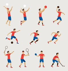 Sports Athletes Men Set vector image