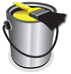 yellow paint vector image