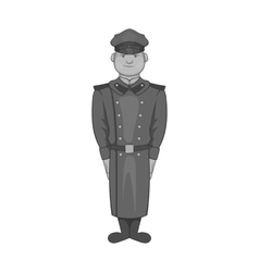 Soldiers in uniform icon black monochrome style vector