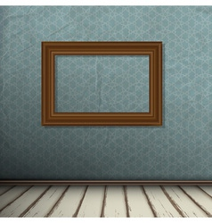 Interior of vintage room with frame on wall vector