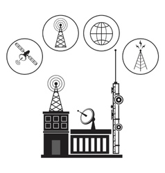 Building broadcasting network service vector