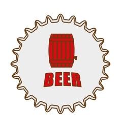 beer cap emblem icon image vector image