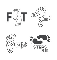 foot silhouette health center logo orthopedic vector image