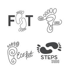 Foot silhouette health center logo orthopedic vector