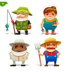 Farm professions set-1 vector