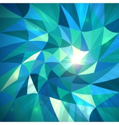 Bright abstract triangles blue background vector image