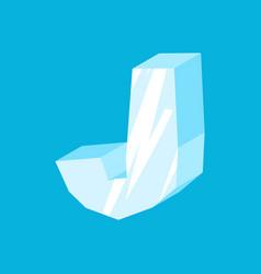 Letter j ice font icicles alphabet freeze vector