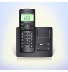 Wireless telephone phone with answering machine vector image