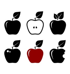 Set of apples vector