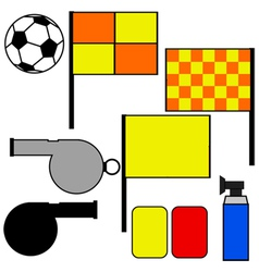 Soccer referee tools vector