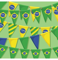 brazil bunting decoration vector image