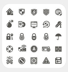 Security icons set vector