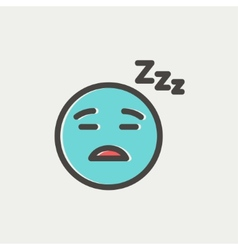 Sleeping thin line icon vector