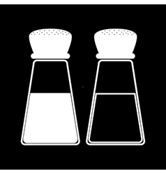 Salt and pepper icons vector