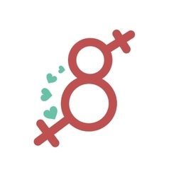 Flat icon on white background eight female sign vector