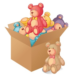 A box full of toys vector image