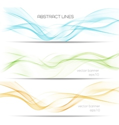 Abstract curves lines banner template brochure vector