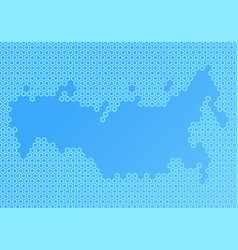 abstract map composed of hexagons vector image