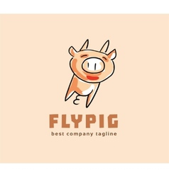 Abstract pig monster logo icon concept logotype vector