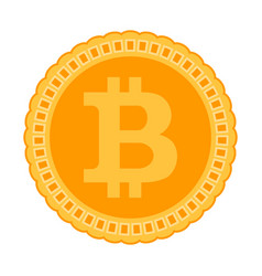 bitcoin icon crypto coin vector image