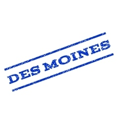 Des moines watermark stamp vector