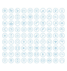 different lineart style icons collection in vector image