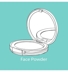 Face powder vector