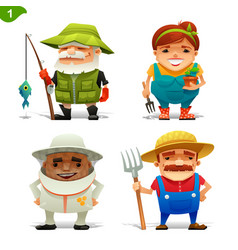 farm professions set-1 vector image vector image