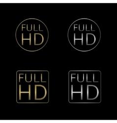 Full hd labels vector