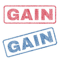 Gain textile stamps vector
