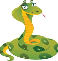 Happy snake vector image vector image