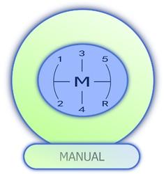 Icons and symbols of car parts - manual gear box vector