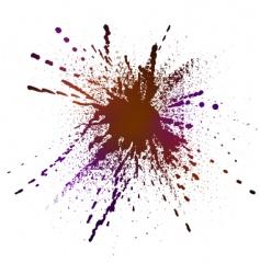 inky splash vector image vector image