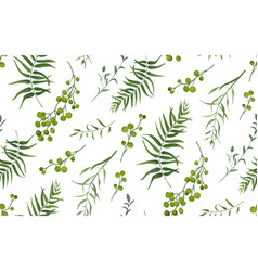 Palm fern foliage natural branch seamless pattern vector