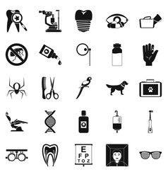 Relatives icons set simple style vector