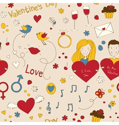 Romantic seamless vector image
