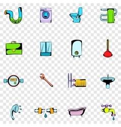Sanitary engineering set icons vector