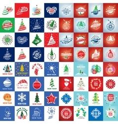 Set of logo christmas vector