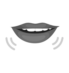 Speaking mouth icon in monochrome style isolated vector
