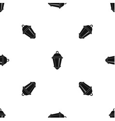 Street light pattern seamless black vector