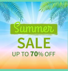Summer sale up to 70 percent promotion poster vector