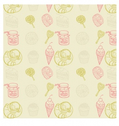 sweet seamless pattern vector image