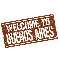 Welcome to buenos aires stamp vector