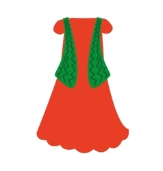 Classic ethnic costume icon vector