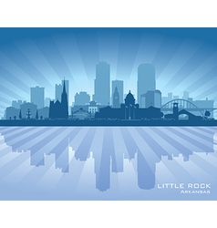 Little Rock Arkansas city skyline silhouette vector image